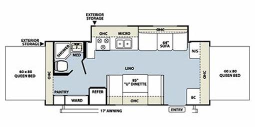 Rv Trailer Denver Roo 23ss Floor Plan