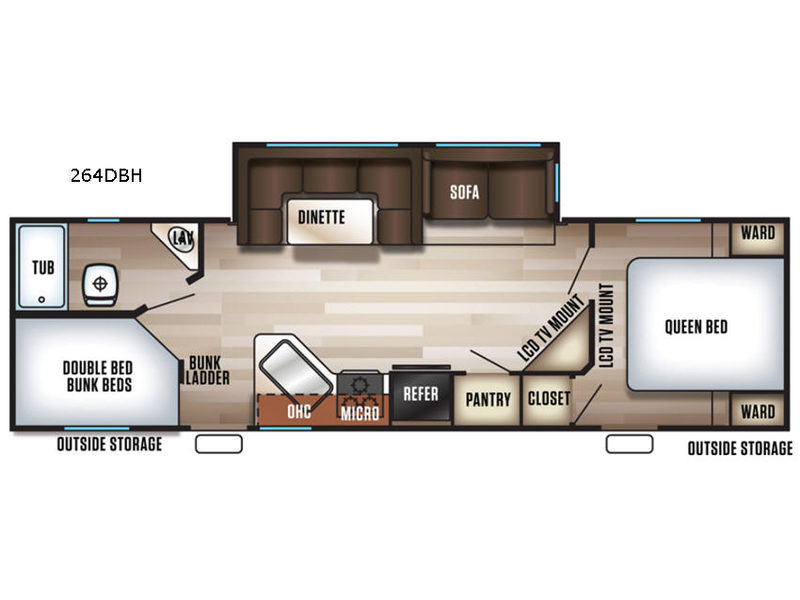 264DBH floorplan