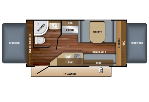 Jayco16XRB Floorplan